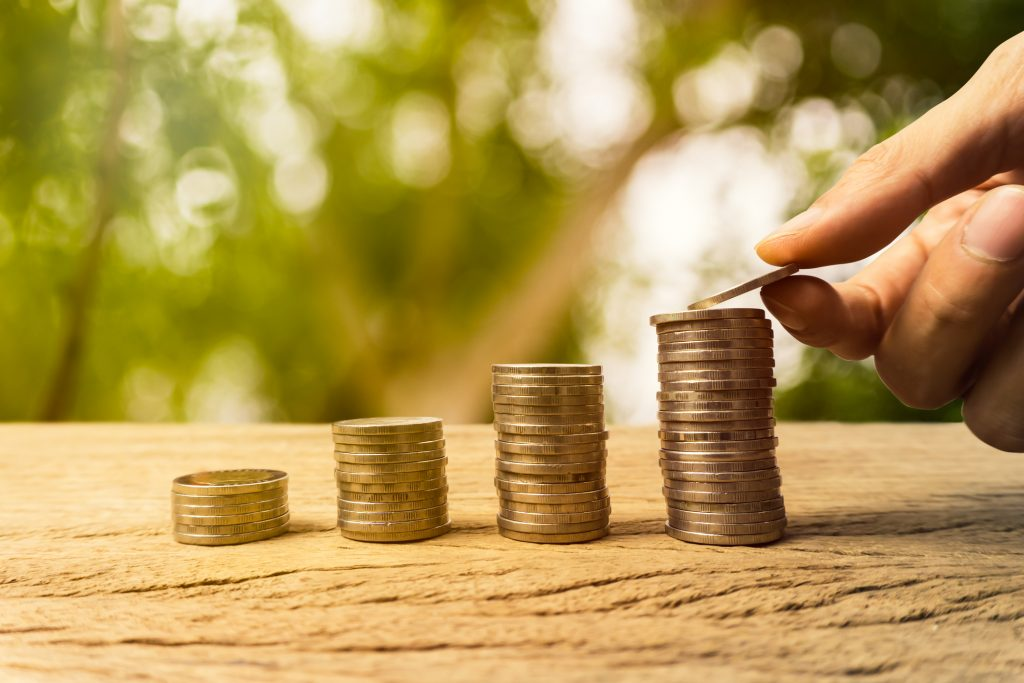 growing time value of money investment wealth financial concept